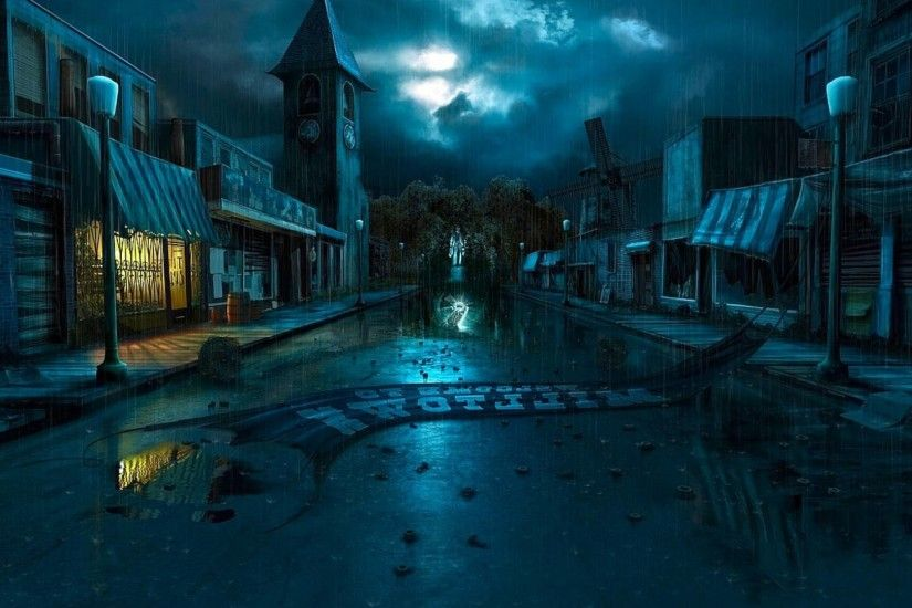 Dark Village Art Wallpaper Hd Wallpaper