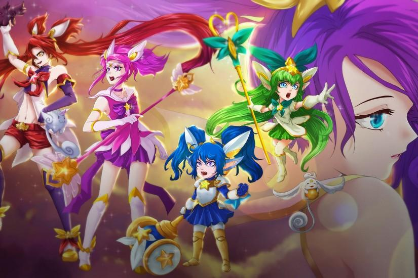 Star Guardian Poppy, Jinx, Lulu, Janna & Lux by Dweynie HD Wallpaper Fan