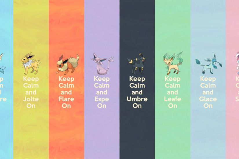 I saw a (badly made) version of the Sylveon one, and had to have it... so I  made a better one, then decided I needed the whole set. There's one for  desktops ...