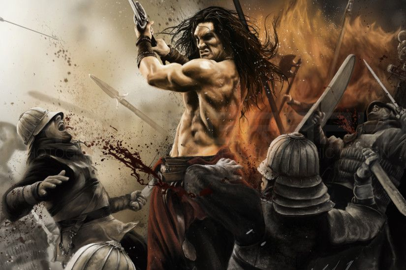 [Digital Painting] Conan the Barbarian by Phomograph. Jason Momoa by  NebelDarkened