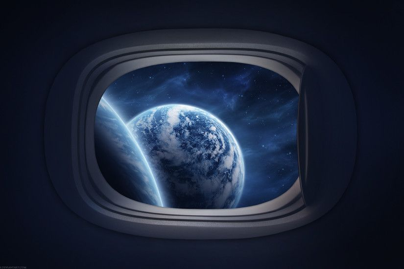 View From A Spaceship Window HD wallpapers