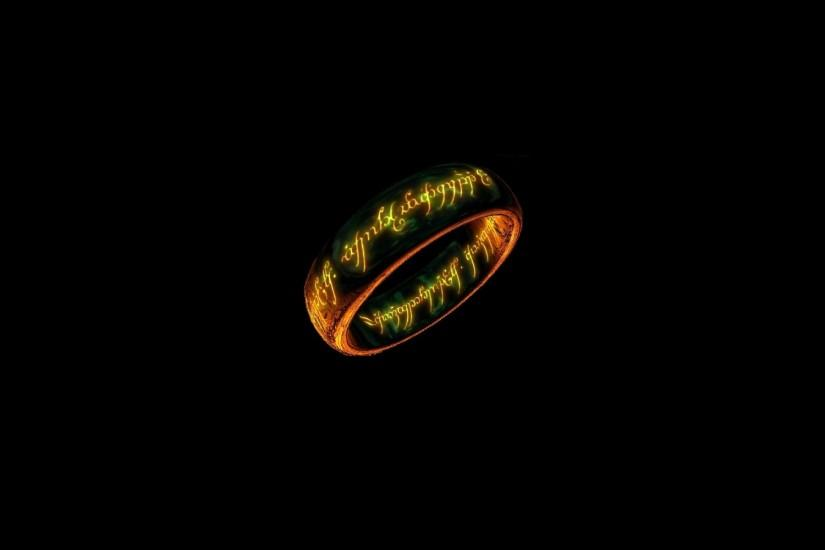 Rings The Lord of the Rings black background wallpaper | 1920x1200 | 54501  | WallpaperUP