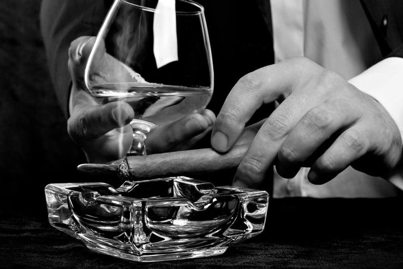 classy, Cigars, Monochrome, Alcohol, Men Wallpapers HD / Desktop and Mobile  Backgrounds