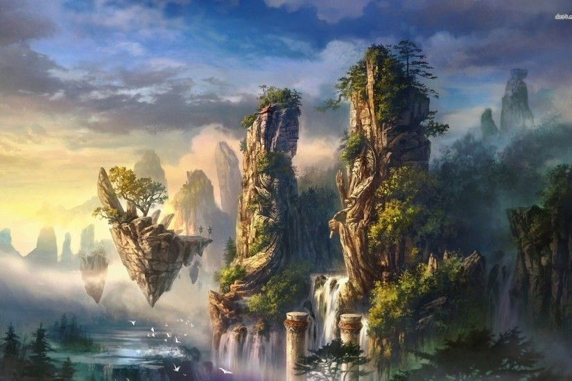 Floating Island wallpapers (56 Wallpapers) – HD Wallpapers ...