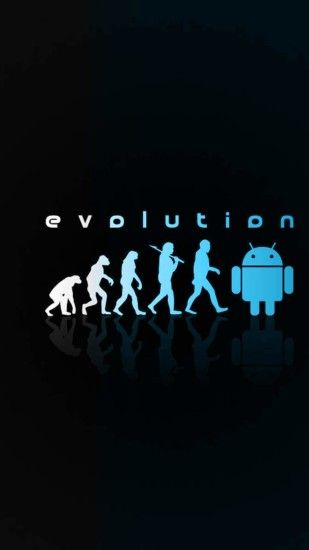 Android logo black blue Android SmartPhone Wallpaper