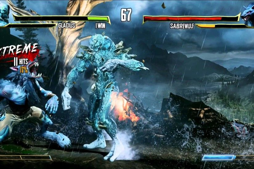 (60fps) Killer Instinct - Glacius vs Sabrewulf Gameplay | Xbox One (1080p)  - YouTube