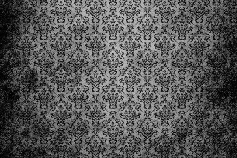 Damask Vintage Background Black