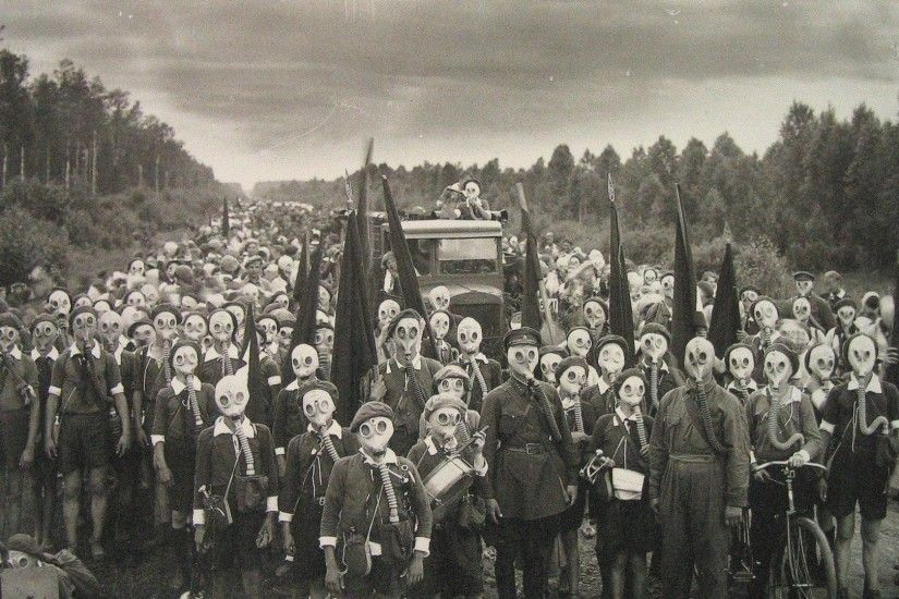 Soviet Gas Masks World War Children Wallpaper At Dark Wallpapers