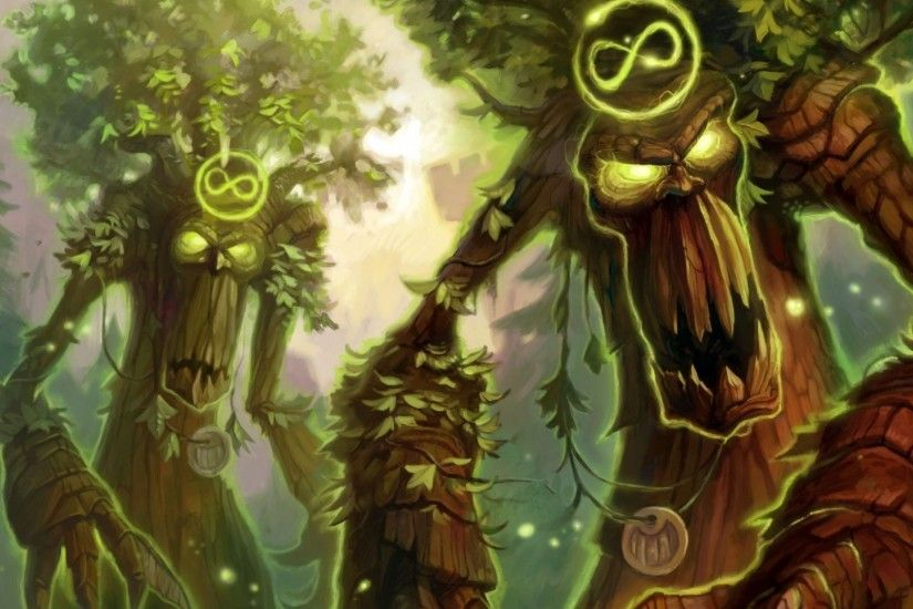 1920x1080 Wallpaper hearthstone, druid, soul of the forest, ancien