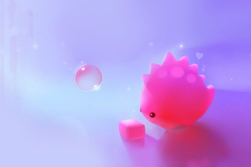 Cute pink dino wallpaper - Digital Art wallpapers - #