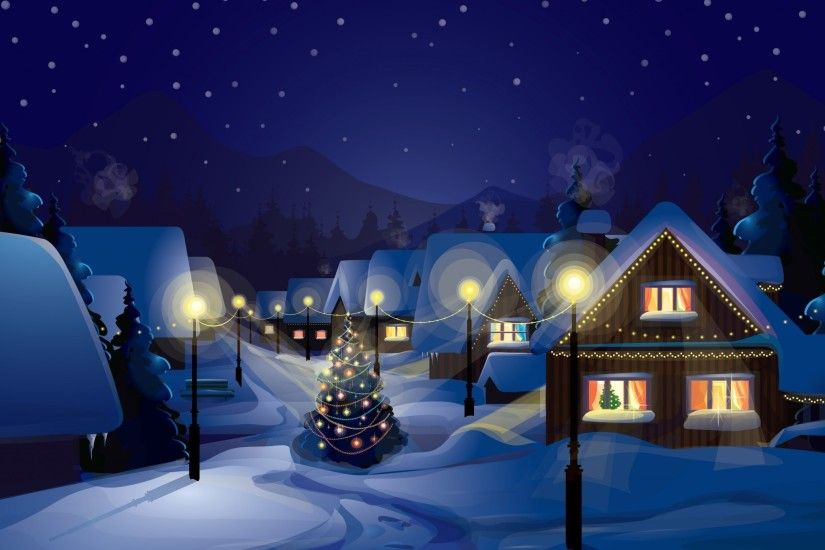 Christmas, Village, Christmas Tree, Snow Wallpapers HD / Desktop and Mobile  Backgrounds