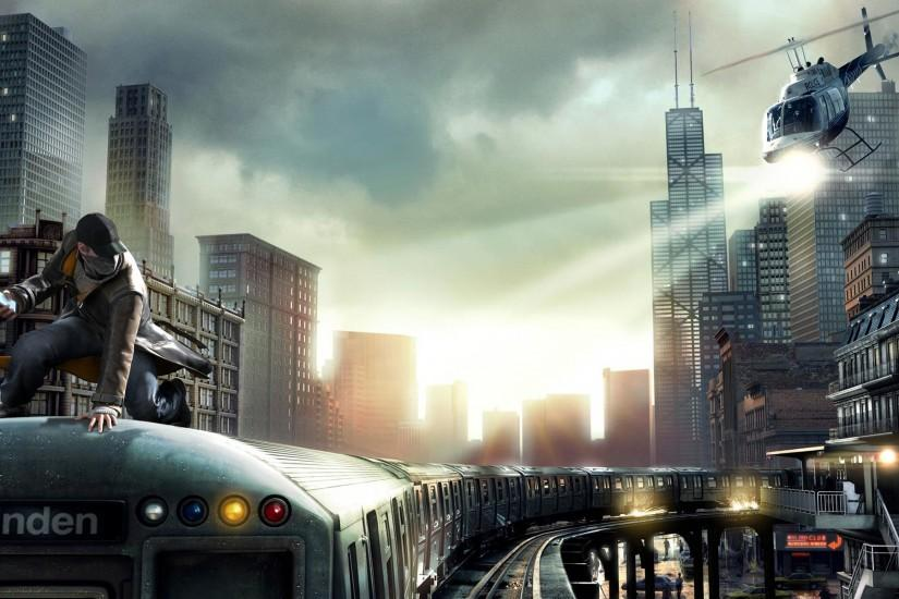Watch Dogs Train Ride Wallpaper