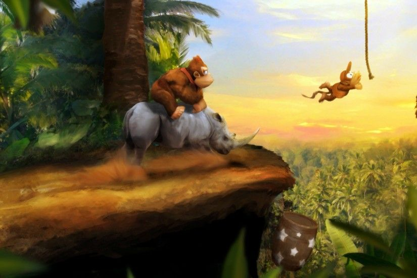 Donkey Kong Land HD Wallpapers Backgrounds Wallpaper | HD Wallpapers |  Pinterest | Donkey kong, Donkey and Wallpaper