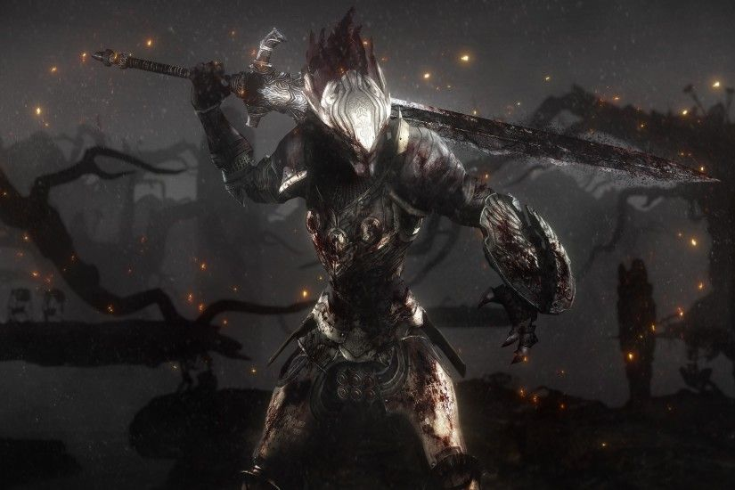 Wallpaper Dark Souls Ii, Game, Rpg, Sword, Armor, Warrior, Sparks