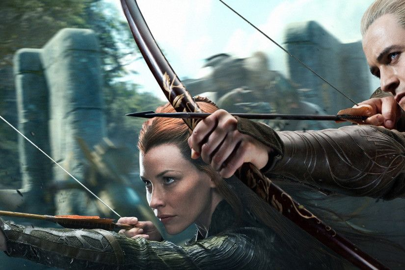 2560x1080 Wallpaper the hobbit the desolation of smaug, legolas, tauriel