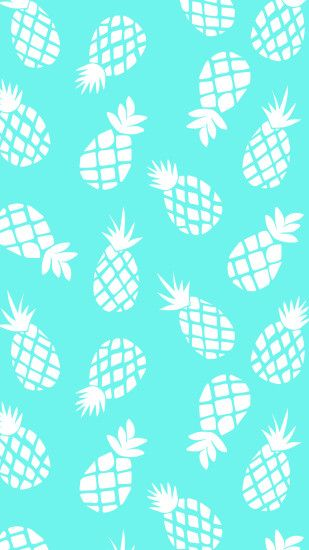 Pineapples - Trio Colour · Pineapples - Turquoise/White