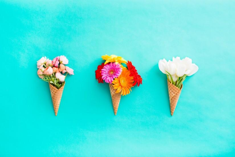 Download Floral Cones All In A Row