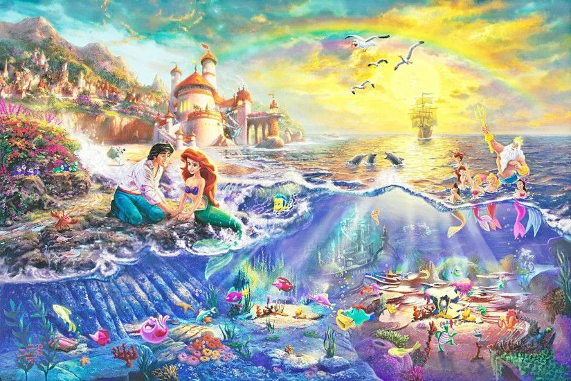 LITTLE MERMAID disney fantasy animation cartoon adventure family  1littlemermaid ariel princess ocean sea wallpaper | 2560x1727 | 575917 |  WallpaperUP