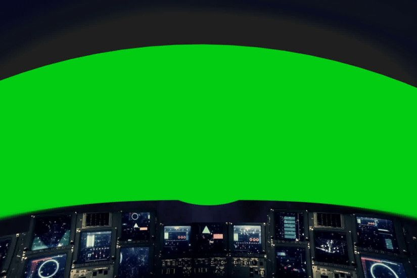 Inside a Spaceship Cockpit on a Green Screen Motion Background - VideoBlocks
