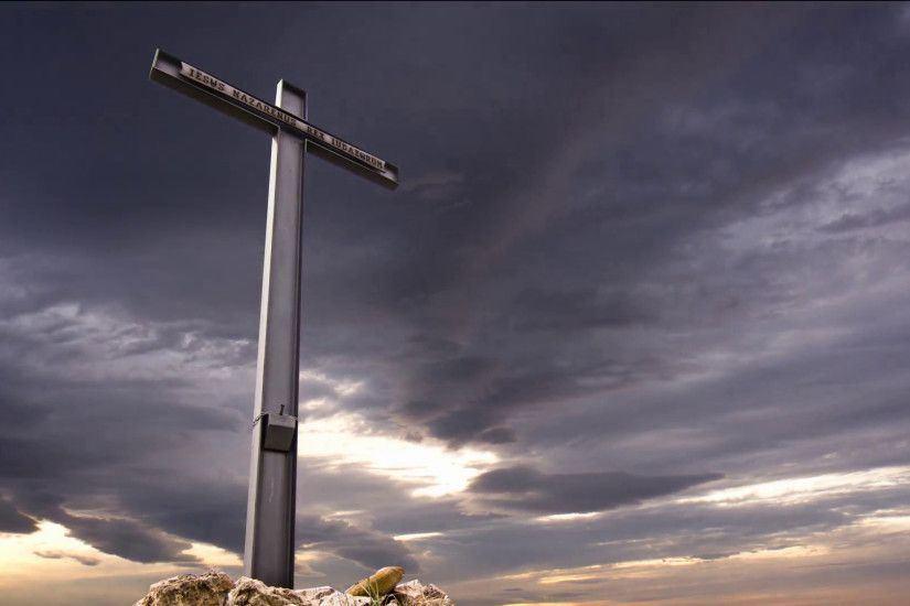 Subscription Library cross against a dramatic sky,stormy clouds crossing  the sky in the background at the