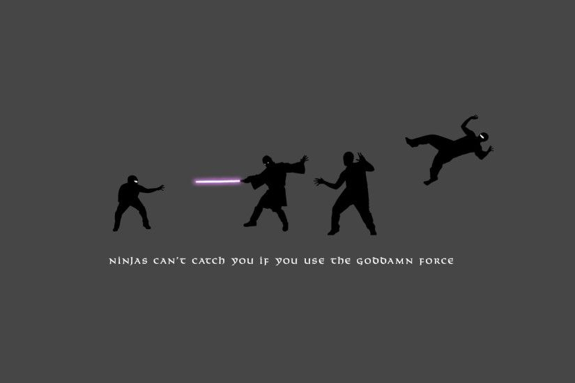 Ninjas vs The Force HD Wallpaper 1920x1080