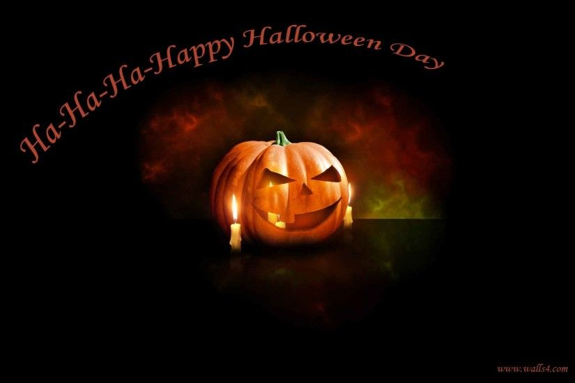 Free Wallpapers - Happy Halloween Day scary pumpkin wallpaper