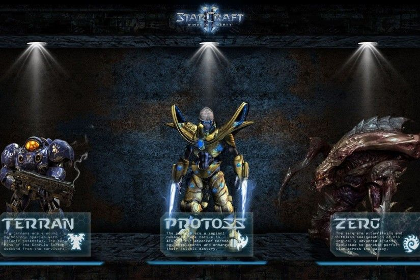 Games Wallpapers - Starcraft 2 Races 1920x1080 wallpaper
