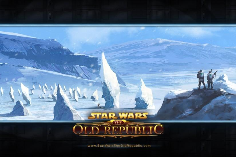Preview wallpaper star wars the old republic, cold, snow, mountains  3840x2160