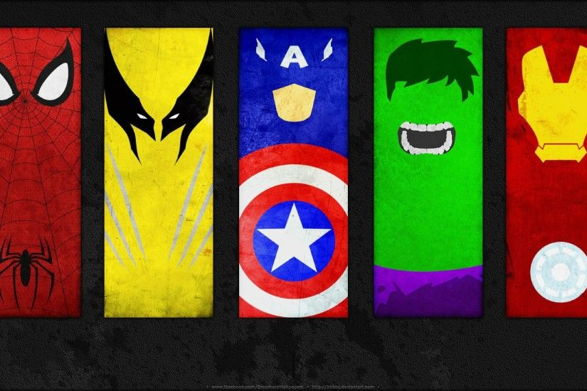 Comics - Marvel Comics Hulk Wolverine Spider-Man Iron Man Captain America  Wallpaper