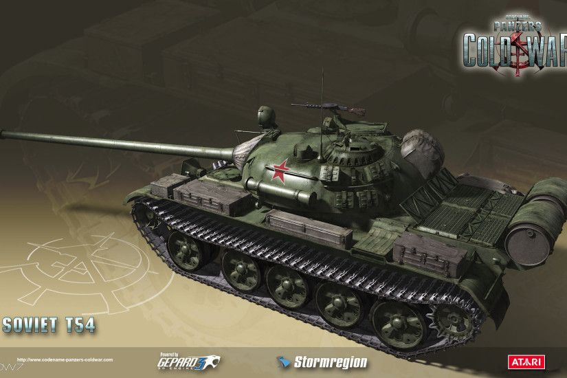 codename panzers cold war soviet t54 widescreen wallpaper