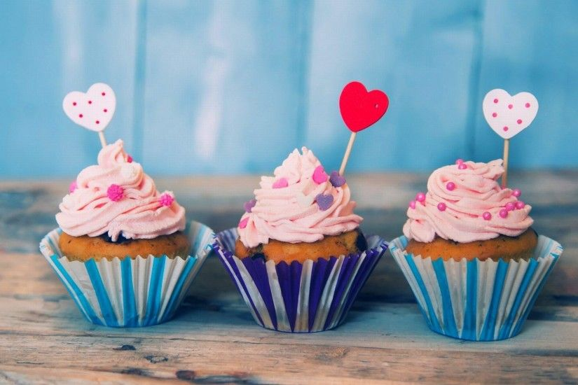 ... Cute Birthday Cupcake - wallpaper.