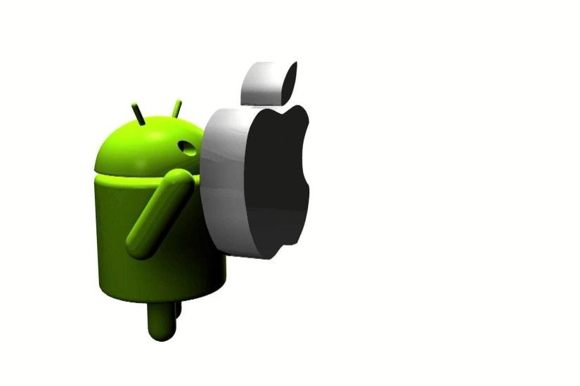 High Definition wallpaper of Android vs Apple-