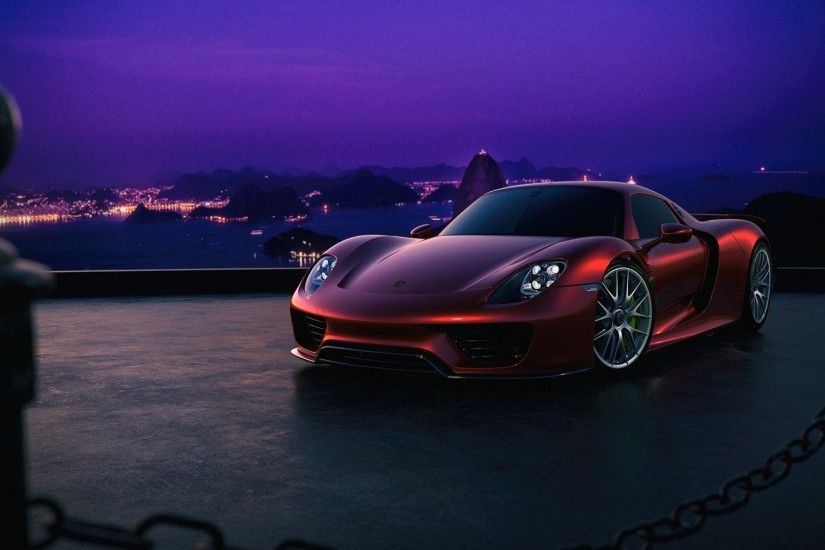 1920x1080 Wallpaper porsche, 918, side view, night