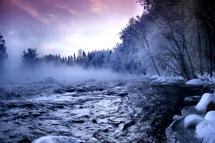 Winter river Wallpaper Winter Nature Wallpapers