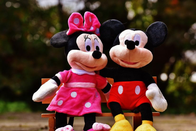 1920x1080 Wallpaper mickey mouse, minnie mouse, mouse, toys