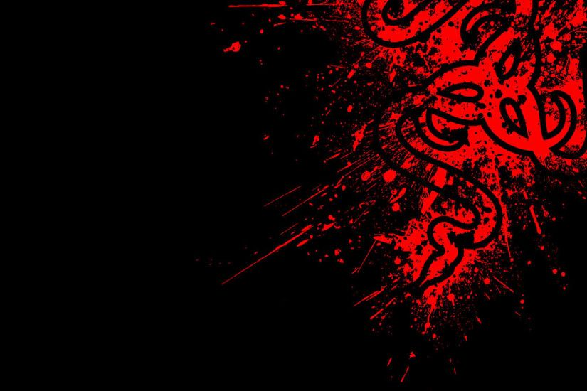 Red Razer Logo 19 HD Wallpaper