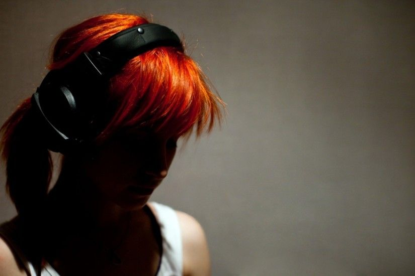 dyed Hair, Redhead, Women, Paramore, Hayley Williams, Headphones Wallpapers  HD / Desktop and Mobile Backgrounds