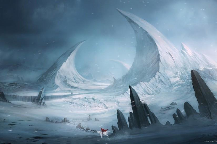 Download 1920x1080 Winter Fantasy Landscape Wallpaper