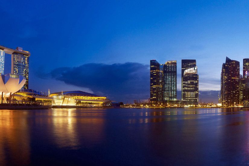 Marina Bay Sands Panorama Wallpaper