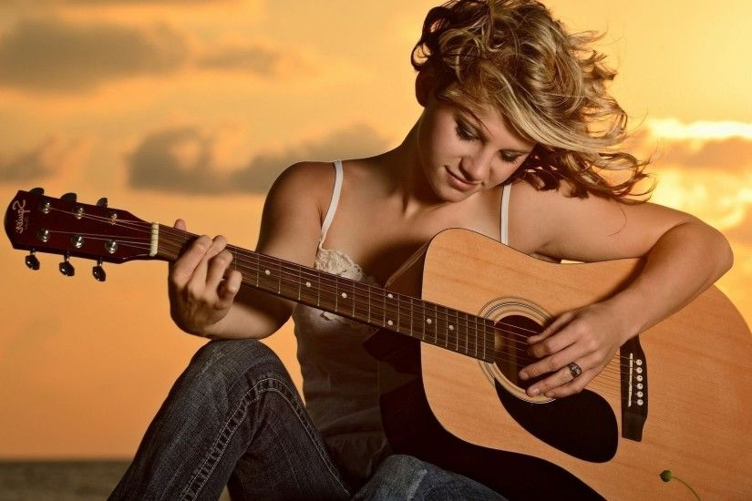 Girl playing the guitar Music HD desktop wallpaper, Guitar wallpaper, Woman  wallpaper - Music no.