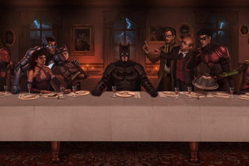 Red hood Dc comics The last supper Batman Nightwing Cne Robin .