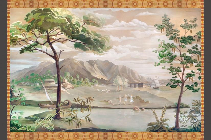 Chinoiserie Panel (La Quinta) : This Chinoiserie panel was commissioned by  Jessup Design,
