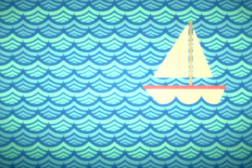 Vintage sea background with a boat. Animation Motion Background -  VideoBlocks