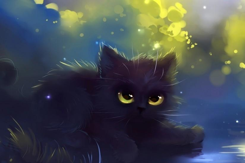 Black kitten wallpaper - Artistic wallpapers - #20065