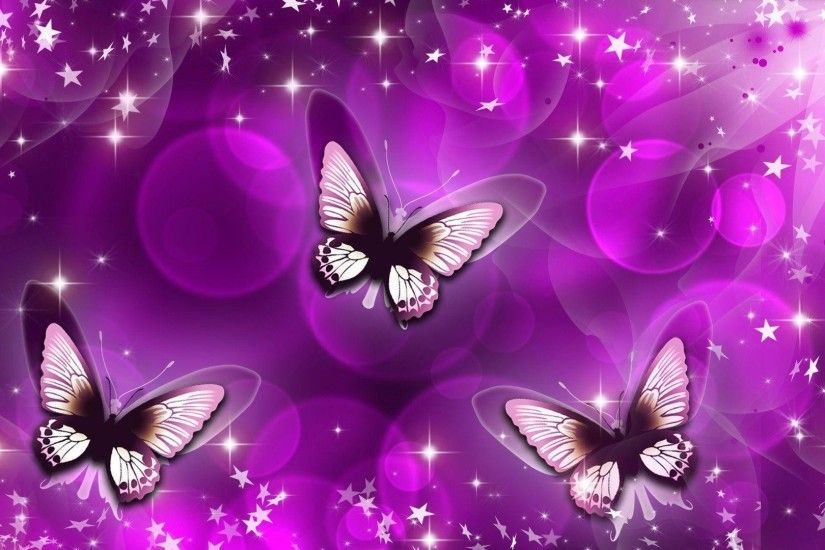 Wallpapers For > Pink And Purple Butterfly Background