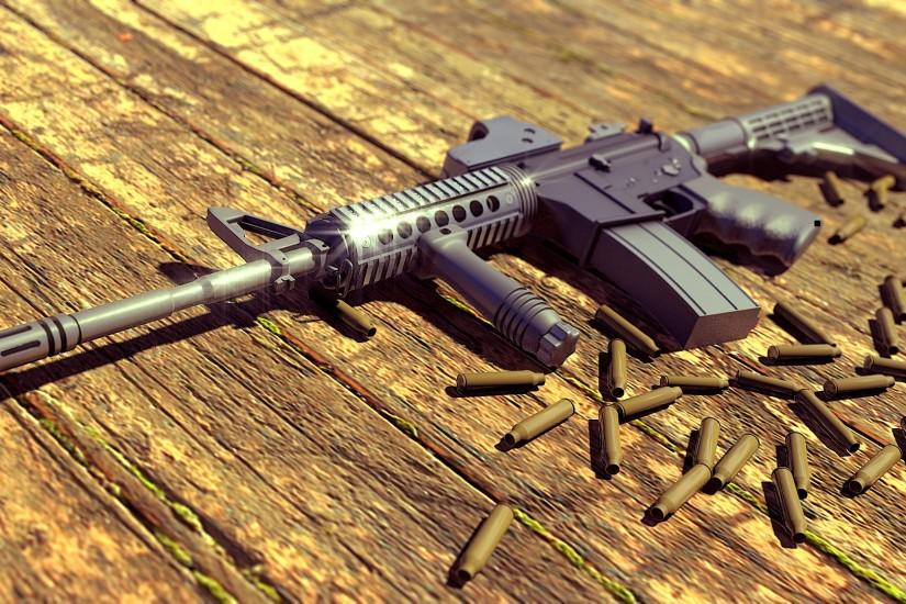 Machine Gun Ammo FullHD Wallpaper