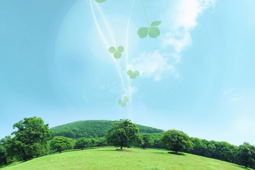 Fantasy - Landscape Tree Clover Wallpaper