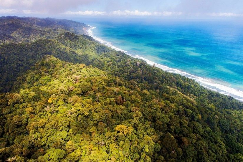 nature, Landscape, Aerial View, Beach, Sea, Clouds, Forest, Jungles, Costa  Rica, Hill Wallpapers HD / Desktop and Mobile Backgrounds