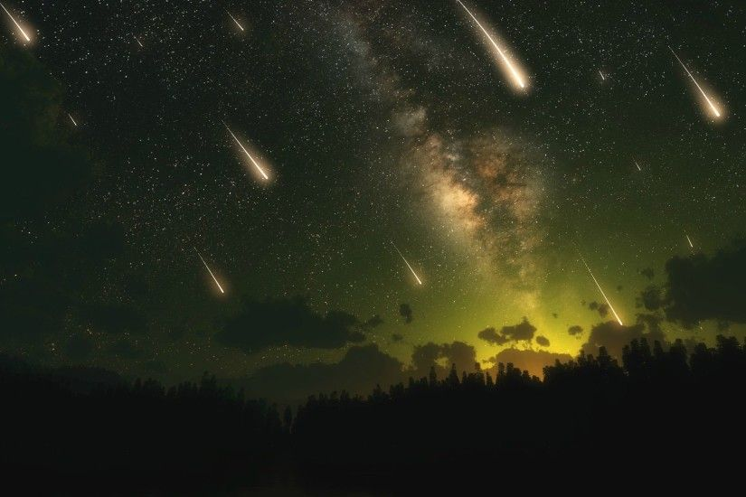 Meteor Shower [3840x1080] ...
