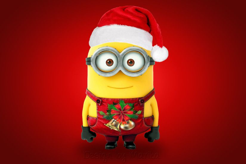 Christmas santa minion cute hd wallpaper